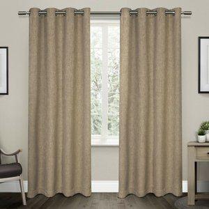 SET OF 2  Room Darkening Thermal Grommet Curtains